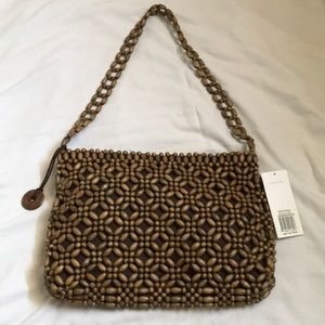 The Sak Bora Bora Brown Beaded Bag